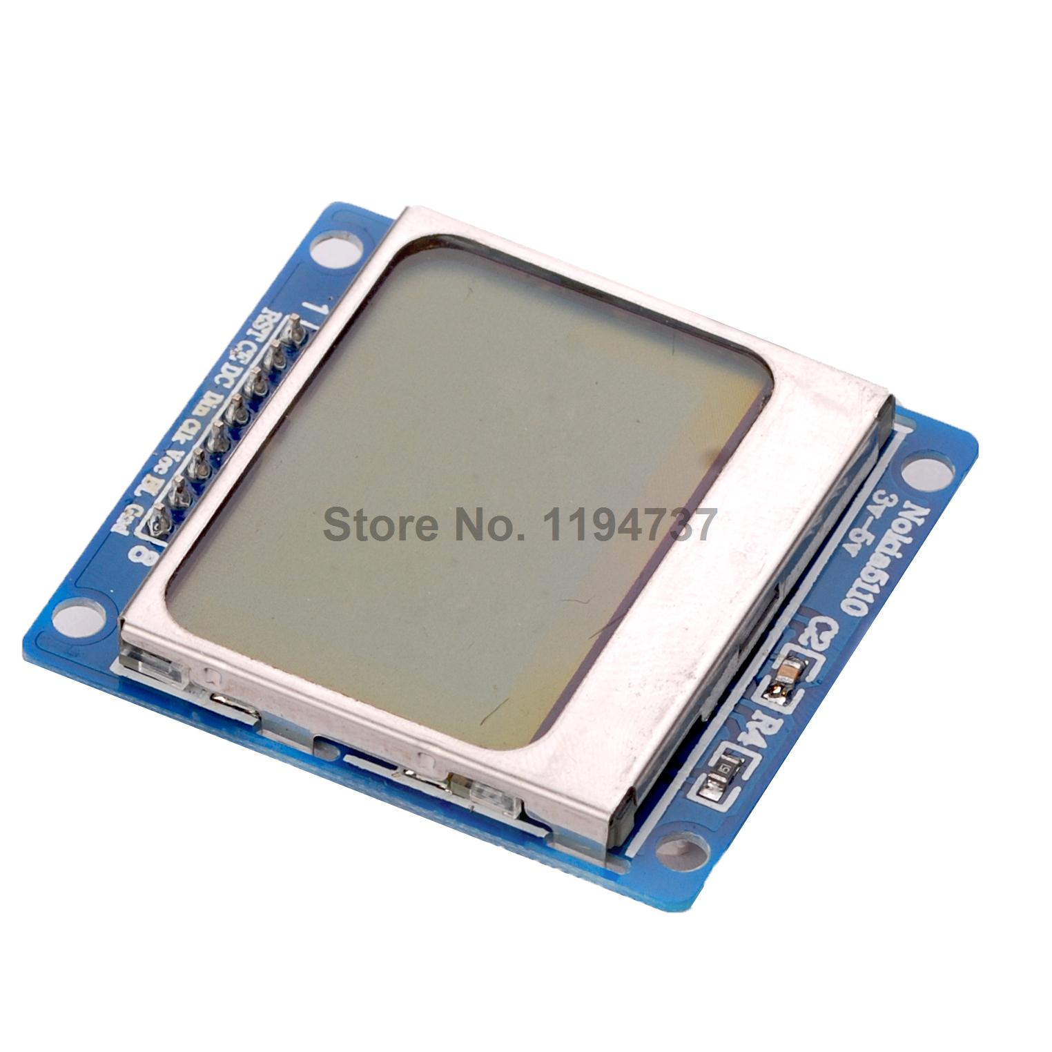 Nokia 5110 lcd module monochrome display screen 84 x 48 for arduino - 1pcs Blue 84x48 Nokia 5110 Lcd Module With Blue Backlight With Adapter Pcb For Arduino