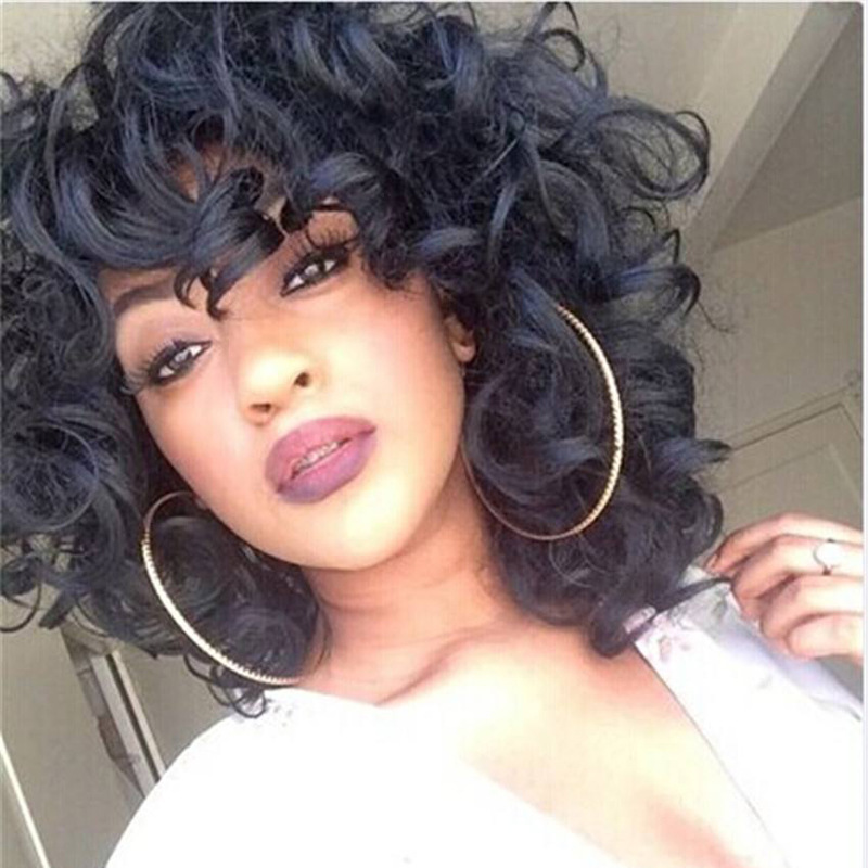 Good quality loose hair jewelry 260g 14inch synthetic hair wear extension curly hair accessories as black womens wigs