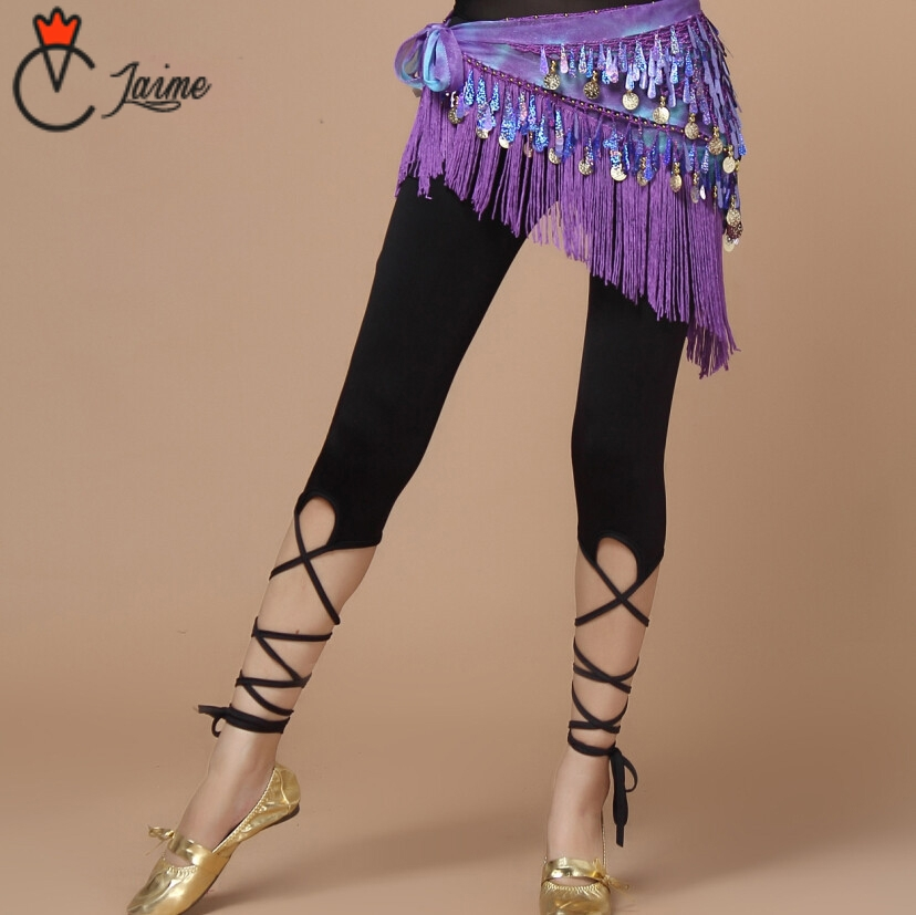 Belly Dancing Pants Promotion Belly Dancer Practice Clothes Women Bandage Pants Black Dance Leggings Tights Belly Dance Trousers