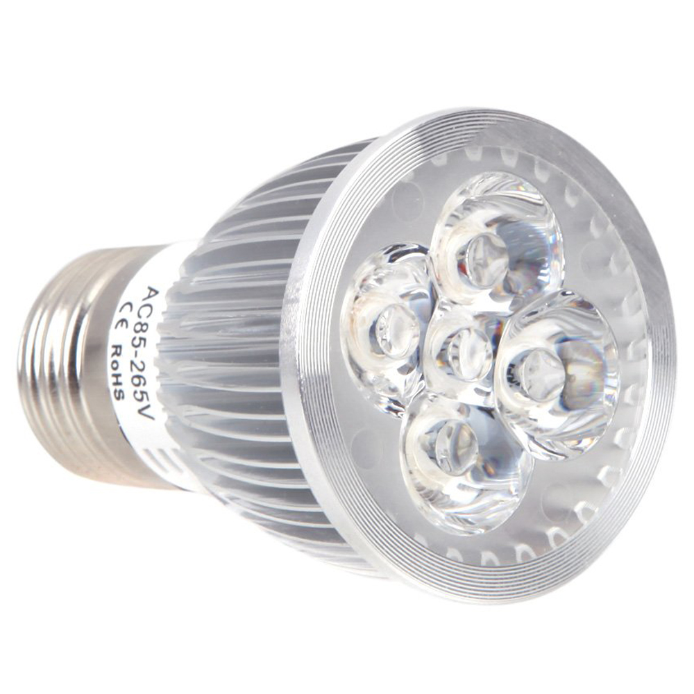 E27 5W LED Plant Grow Hydroponic Lamp Bulb Energy Saving 4 Red 1 Blue for Indoor Plants Growth Vegetable Greenhouse 85-265V
