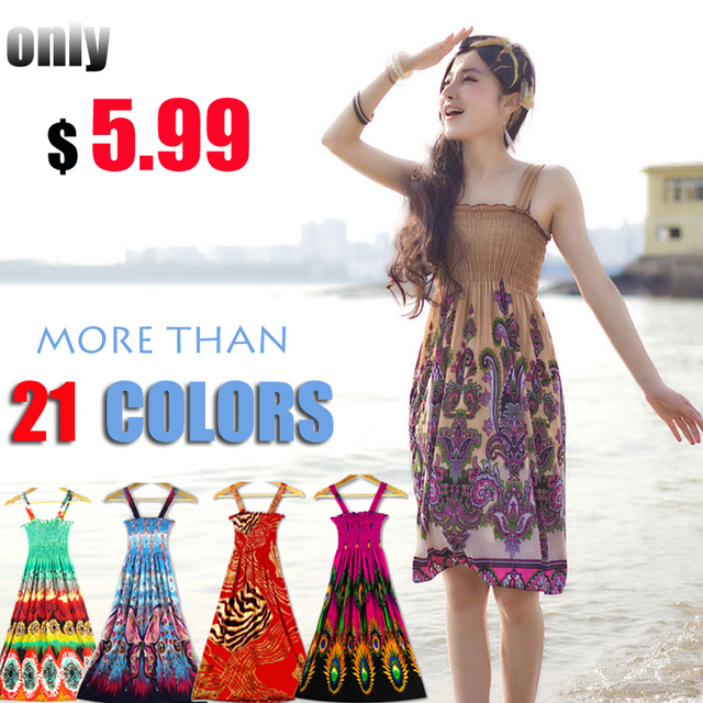 Online Shop New 2014 women summer dresses 21colors Plus size S-L ...