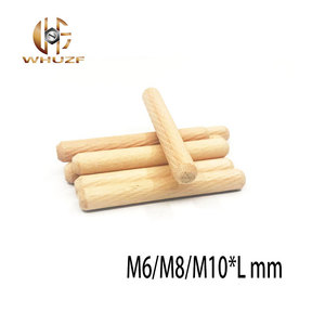 M6 M8 M10 Wooden Dowel Cabinet Drawer Round Fluted Wood Craft Dowel Pins Rods Set Furniture Fitting wooden dowel pin(China)