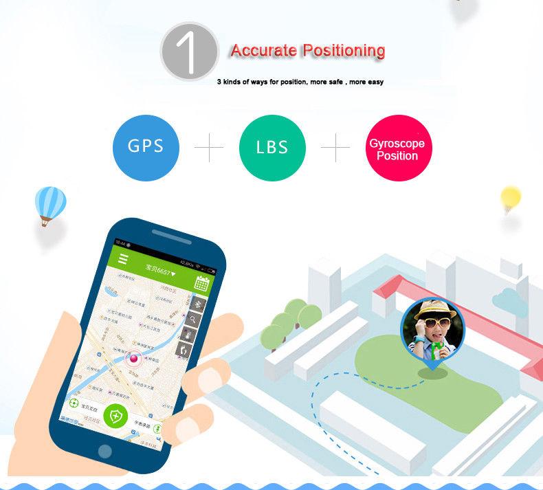 Kids Bluetooth SmartWatch GPS Tracker SOS Call Family Dial Two-way conversation Anti-lost Locator Waterproof SmartWatch phone