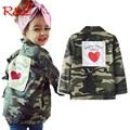 R & Z/Детская куртка  камуфляжная ветровка для мальчиков и девочек на весну и осень 2019