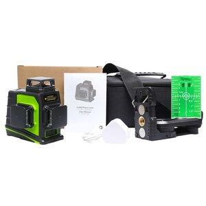 Image 5 - Huepar niveau Laser 3D vert 12 lignes croisées nivellement automatique, projection à 360 degrés et recharge sur prise USB