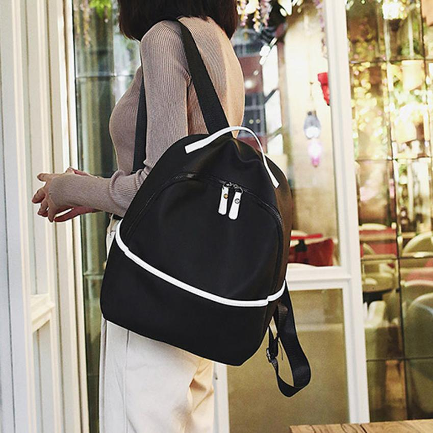 maison Backpacks new high quality Fashion Girls Boys Solid Print Flock Zipper Backpack School Shoulder backpack women 2018ma9