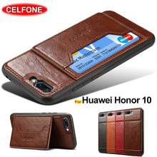 Huawei Honor 10 case Shockproof TPU bumper PU leather card holder Magnetic case for Huawei Honor 10 cover Honor10 COL-L29 cases(China)