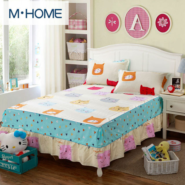 100 Cotton Single Double Bed Skirt Mattress Cover Petticoat Twin Full Queen Skirts Bedspread