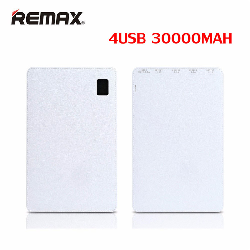 Original Remax 30000 mAh 4 USB Mobile batterie externe chargeur de batterie externe universel pour Huawei iPhone Samsung Xiaomi tablettes - 5