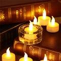 12 unids Sin Llama Parpadeo De La Lámpara LED de Luz Con Pilas de La Vela Del Té Blanco Cálido Seguridad Del Banquete de Boda de Navidad Decoración Para El Hogar