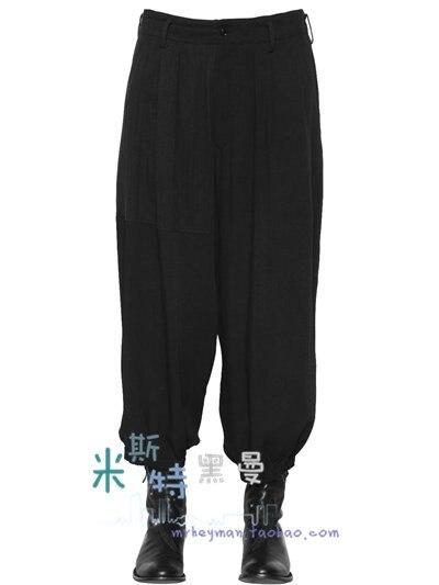 Mode Für Männer Nationalen Wind Rüschen Breitbein Hosen Baggy Harem Hosen. 27-44!!