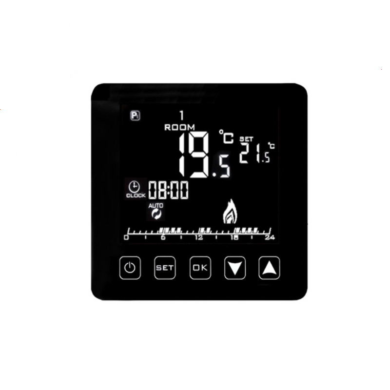 Weekly Programmable Underfloor Heating Thermostat LCD Touch Screen Room Temperature Controller Thermostat  16A 6 1 programmable eu floor heating thermostat room temperature controll with lcd touch