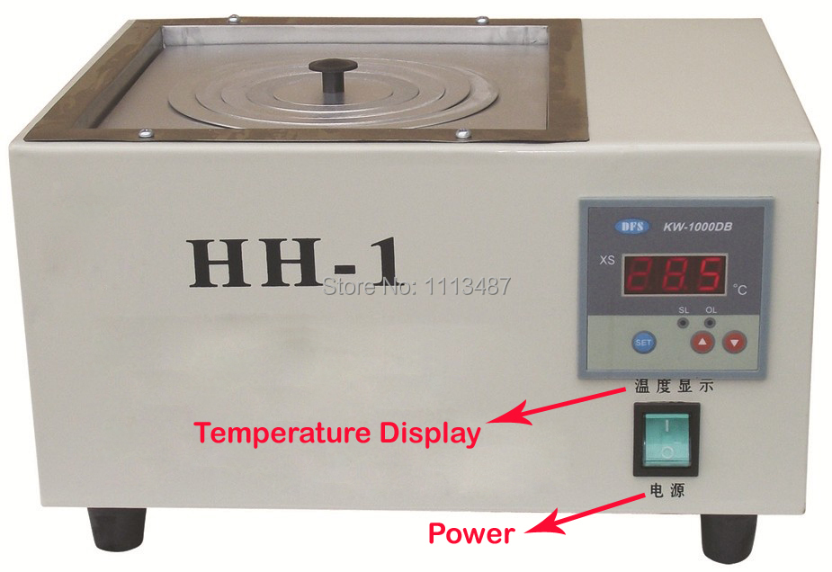 Single Hole Digital Lab Electric Heated Thermostatic Water Bath Boiler HH-1 single hole digital lab electric heated thermostatic water bath boiler hh 1