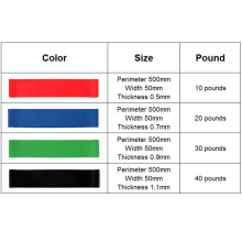 4pcs/set 50cm Resistance Bands