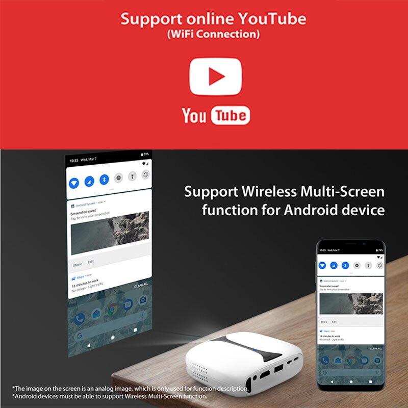 Gigxon G606 MINI projecteur DLP Max 1920*1080 Support HDMI USB WIFI Proyector Portable HD projecteur pour maison jeu cinéma Smartphone - 3
