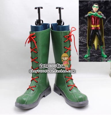 Justice League Superhero Shazam Cosplay Boots Shoes Custom Made