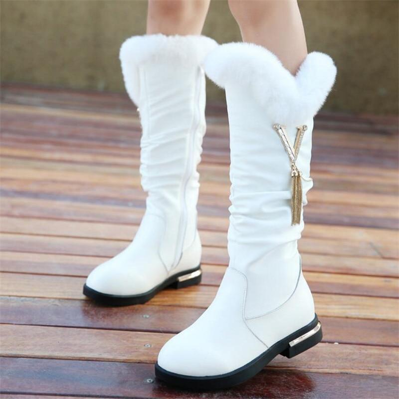 2018 Parent-child shoes princess elegant rhinestone girl high-leg boots children's snow child ever after high boots все цены