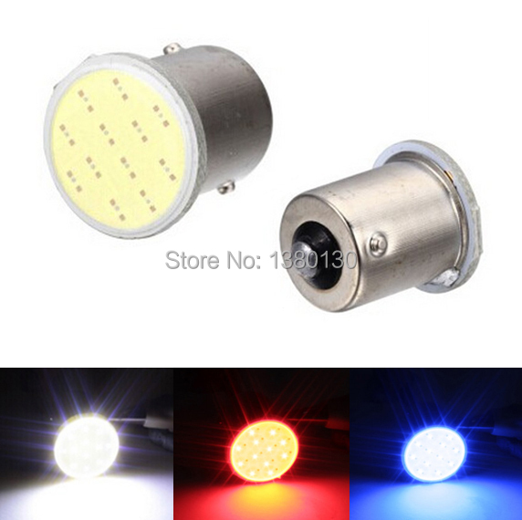 1 Pcs 1156 Bulb Led COB Light 12SMD 12v P21/5W RV Brake Parking backup lights Auto Car Signal reverse Free Shipping Car lamp 1156 led lights ba15s p21w auto car cob turn signal bulb signal lights parking bulbs reverse tail light 12v red white amber