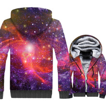 Space Galaxy 3D Print Hoodie Men Colorful Nebula Hooded Sweatshirt Harajuku Coat Winter Thick Fleece Zipper Jacket Plus Size 5XL 2018 portable splashproof rechargeable pu leather case for jbl xtreme wireless bluetooth speaker extra space for plug