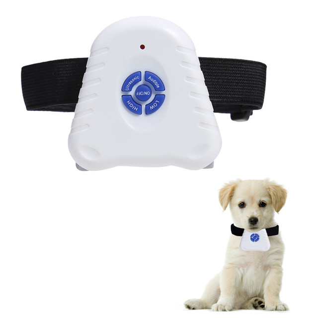 Waterproof Dog Stop Barking Control Collar Training Device Button Clicker Adjustable Ultrasonic Dog Anti Bark Collar  2
