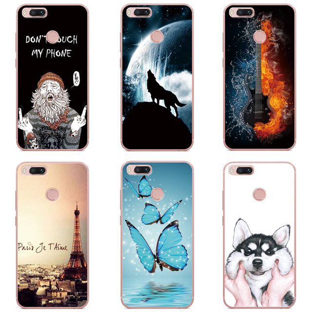 newest 18228 bce02 US $1.59 10% OFF For Xiaomi Mi 5X Case Back Phone Cover Cute Printing  Design Case For Xiaomi Mi5X Soft Silicon TPU Protective Back Cover  Fundas-in ...