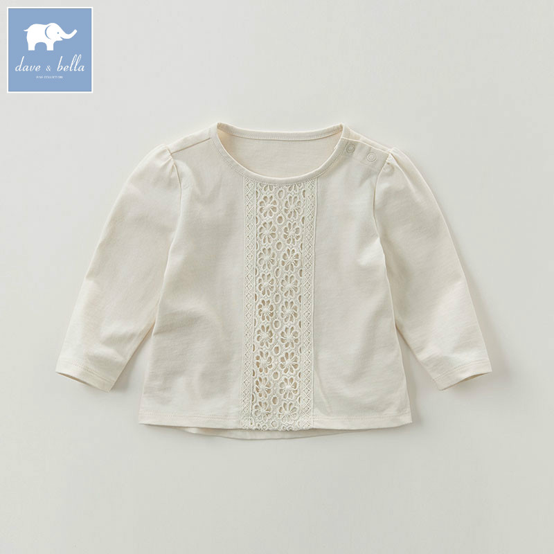 DB5884 dave bella autumn infant baby girls fashion t-shirt kids 100% cotton lovely tops children high quality tee db5884 dave bella autumn infant baby girls fashion t shirt kids 100% cotton lovely tops children high quality tee
