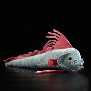Image 1 - 56CM Length Real Life Oarfish Stuffed Toys Super Soft Ribbon Fish Plush Toy Sea Animal Toys For Kids Birthday Gifts