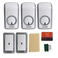 OOTDTY High Quality ABS White 2 Buttons + 3 Receivers 350m Remote Control 48 Song Waterproof Wireless Doorbell