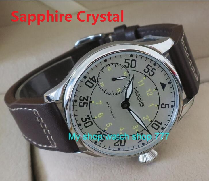 Sapphire crystal 44mm PARNIS ST3600/ 6497 Mechanical Hand Wind movement men's watch  Mechanical watches G0366A sapphire crystal 44mm parnis st3600 6497 gooseneck mechanical hand wind movement mechanical watches men s watches wholesale o27