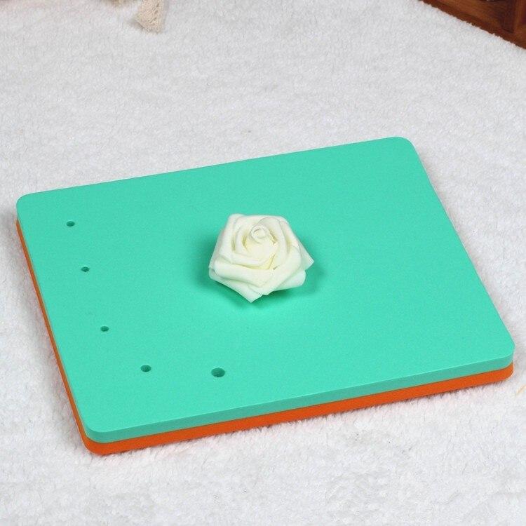 Горячие Продажи Односторонний 5 Отверстий Помадка Торт Формы Flower Площадку Площадь Губка Пены Pad DIY A290
