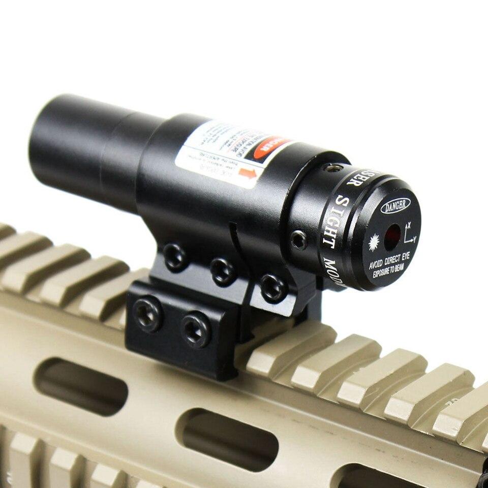 Doprava zdarma Red Dot Laser pohled s držákem pro 20mm Picatinny & 11mm Rails Compact Adjustable Airsoft