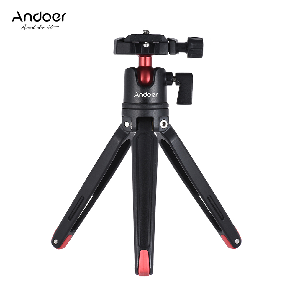 Andoer Mini Handheld Travel Tabletop Tripod Stand W Ball