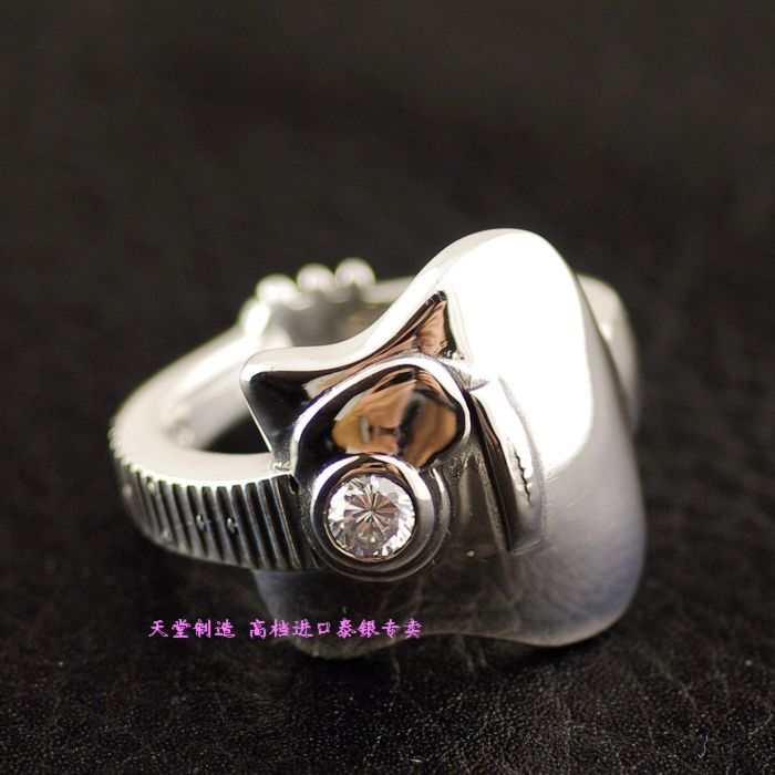 925 pure silver Zircon guitar thai silver ring