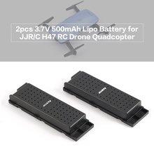 ФОТО original jjrc  2pcs 3.7v 500mah rechargeable lipo battery for h47 drone rc quadcopter part wifi selfie elfie drone accessories