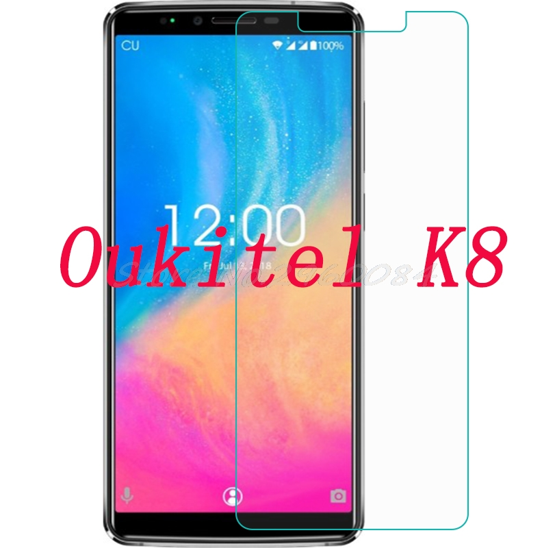 2PCS Smartphone 9H Tempered Glass  for Oukitel K8 Protective Film Screen Protector cover phone2PCS Smartphone 9H Tempered Glass  for Oukitel K8 Protective Film Screen Protector cover phone