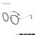 Novos Homens Do Vintage Rodada óculos de Armação de Metal Mulheres Moda Retro Rodada Óculos Óculos de Prescrição Óculos 2188