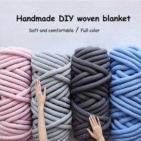 1000g Spin Yarn Hand Knitting Knit Blanket Natural Wool Chunky Yarn DIY Bulky Arm Roving Super Thick