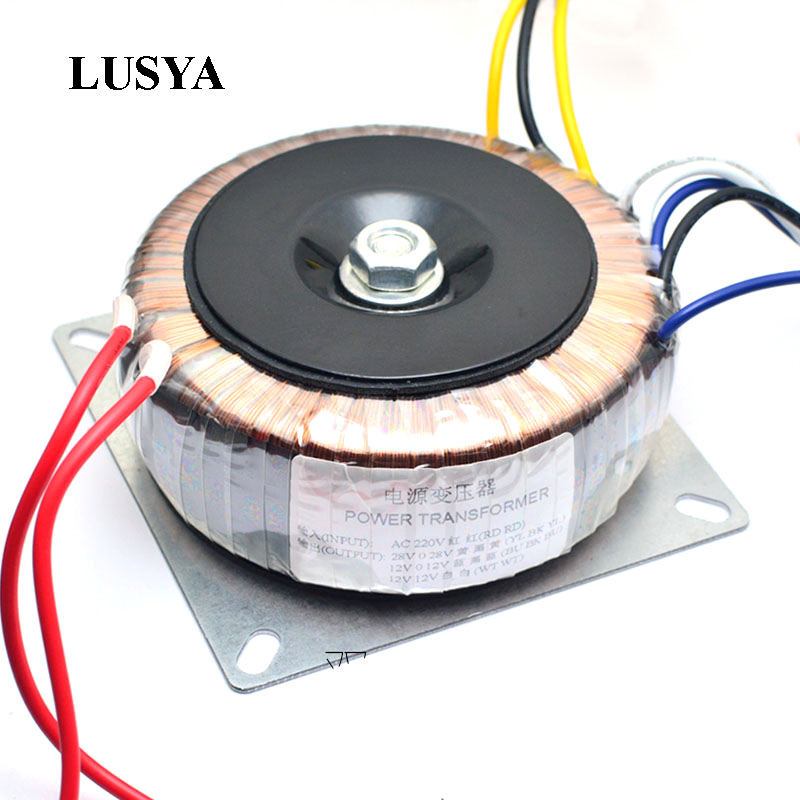 Lusya Dual AC 28v 12V single 12v 200W transformer for TDA7293 LM3886 pre amplifer tone board