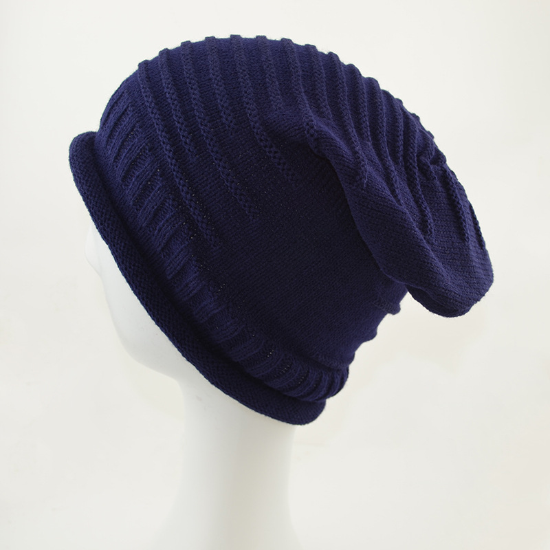 2017 hat Striped knitted hats The Korean version winter wool  cap sleeve head knitted cap Skullies & Beanies N832 knitted skullies cap the new winter all match thickened wool hat knitted cap children cap mz081