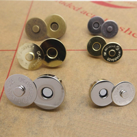100Set/lot 18mm*5mm Bronze/Silver/Gold/Black Metal Magnet Button For Bags Magnetic Handbag Bag Clothes Sewing Scrapbooking