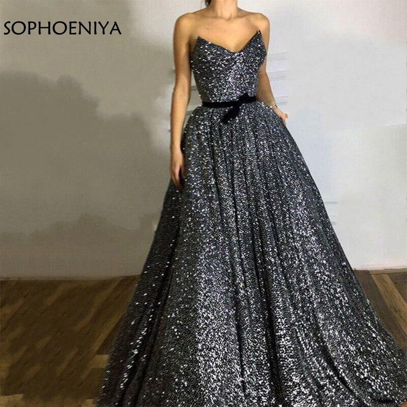 Новое поступление с блестками кружевное вечернее платье серебристо Черное вечернее платье вечерние платья Abiye элегантное женское вечернее