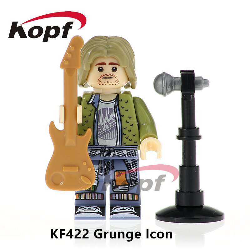 Single Sale Super Heroes Grunge Icon Elvis Aron Presley Indiana Jones Bricks Collection Building Blocks Toys for children KF422 single sale super heroes red yellow deadpool duck the bride terminator indiana jones building blocks children gift toys kf928