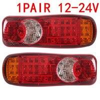 MZORANGE Car Styling 2Pcs 12 24V Automobiles Car Truck LED Stop Rear Tail Indicator Fog Lights