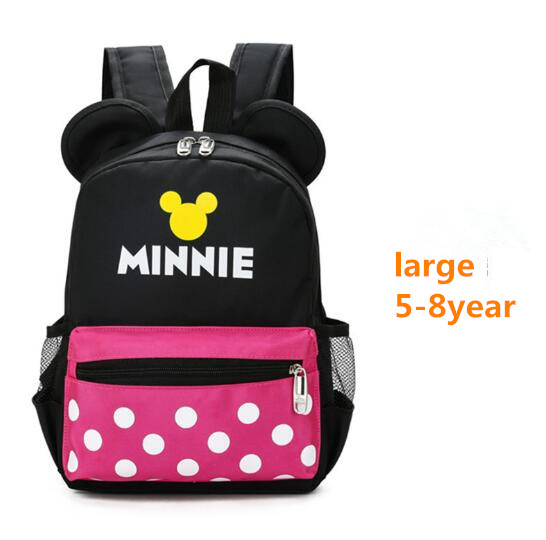 HJKL 2018 many Size Mickey Minnie Children Cartoon Backpack For1 8 years  old Boys And Girls Lovely Schoolbag High Capacity gift-in Backpacks from  Luggage ... 07f07aef3cd5