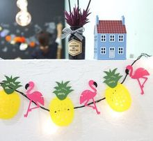 5sets new flamingo nonwoven pineapple garland decorated brace Birthday party decorate adornment
