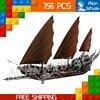 756pcs Lord Of The Rings Pirate Ship Ambush 16018 DIY Model Building Kit Blocks Gifts Children