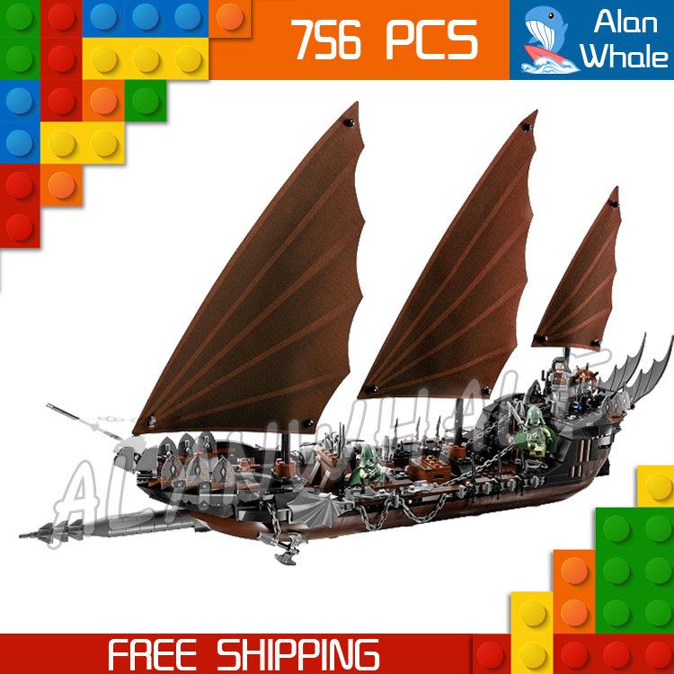 756pcs Lord of the Rings Pirate Ship Ambush 16018 DIY Model Building Kit Blocks Gifts Children Toys bricks Compatible With lego hot sale the hobbit lord of the rings mordor orc uruk hai aragorn rohan mirkwood elf building blocks bricks children gift toys