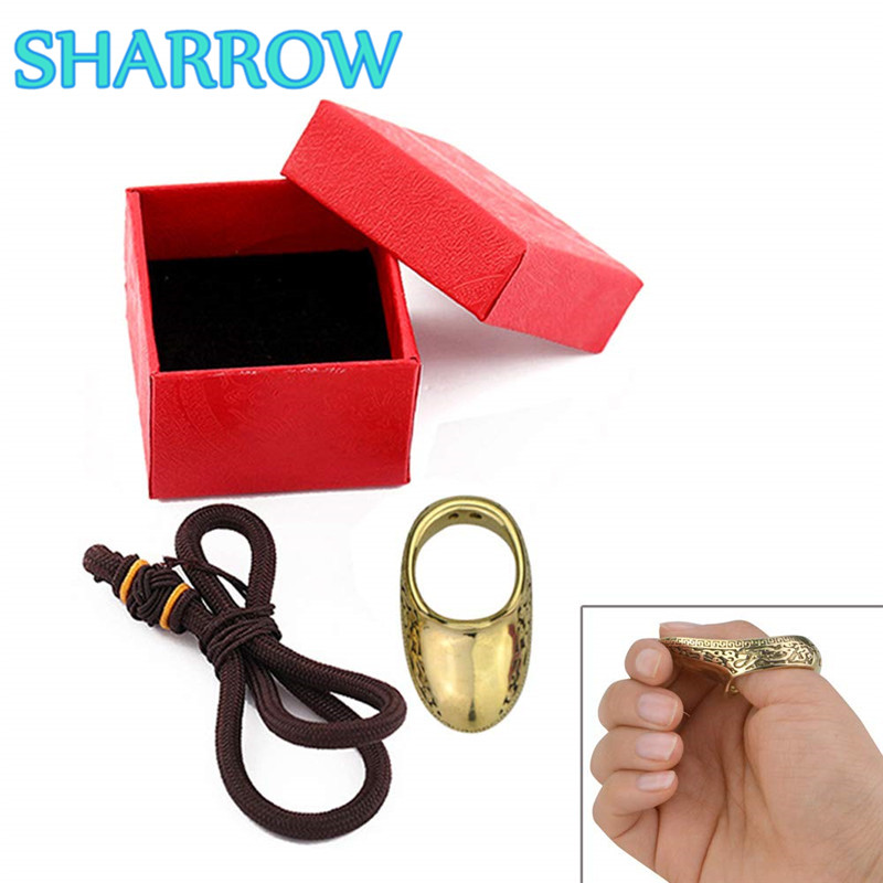 1Pc 16-23mm Archery Thumb Ring Finger Tab 8 Sizes Brass Thumb Protector Gear Finger Guard Outdoor Training Shooting Accessories