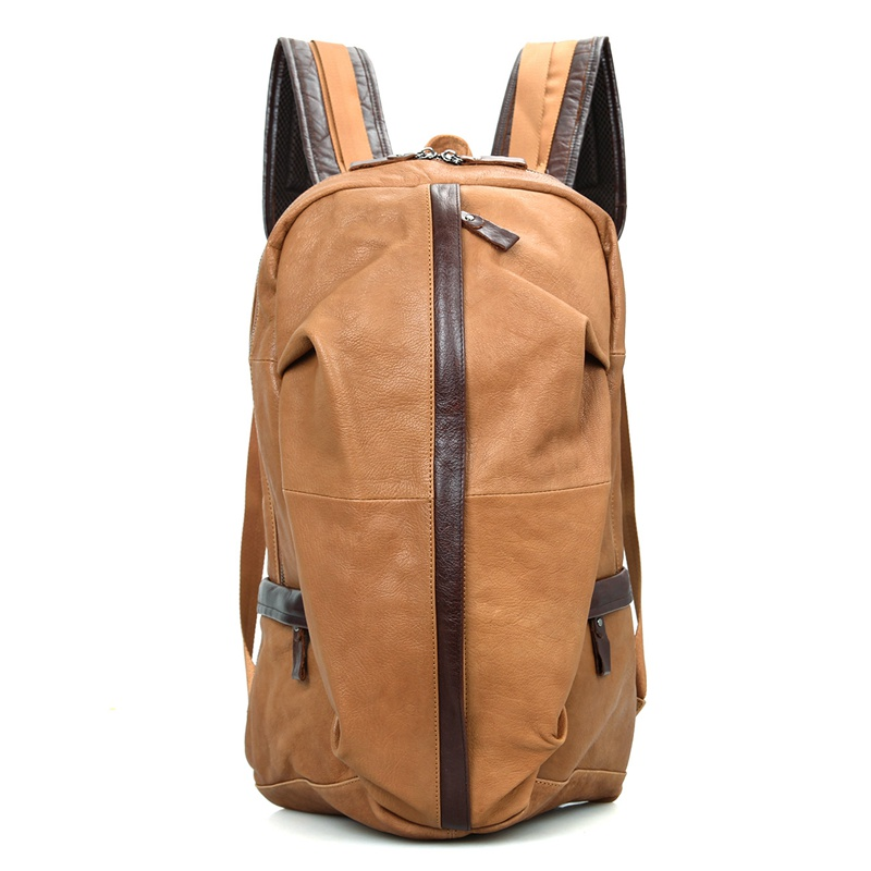 Mens Genuine Cow Leather 17 Backpack Laptop Travel Bags 2018 Business Casual School Bagpack BookBag Backpacks Anti Theft bags genuine cow leather vintage casual mens women backpack shoulder crossbody bags men travel backpacks for man school laptop bag