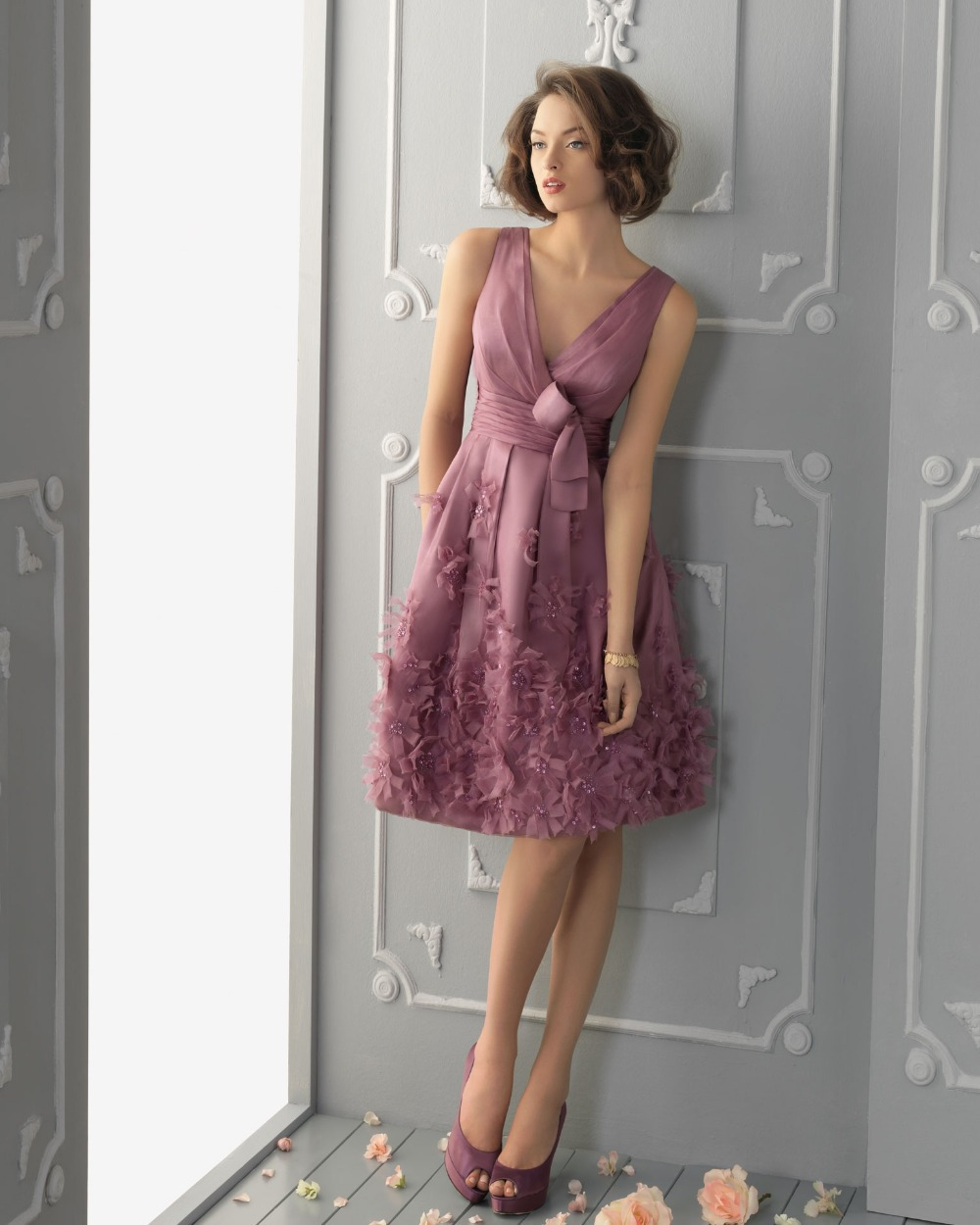 Fotos de vestidos de fiesta hasta la rodilla